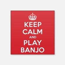 "Keep Calm Play Banjo Square Sticker 3"" x 3"""