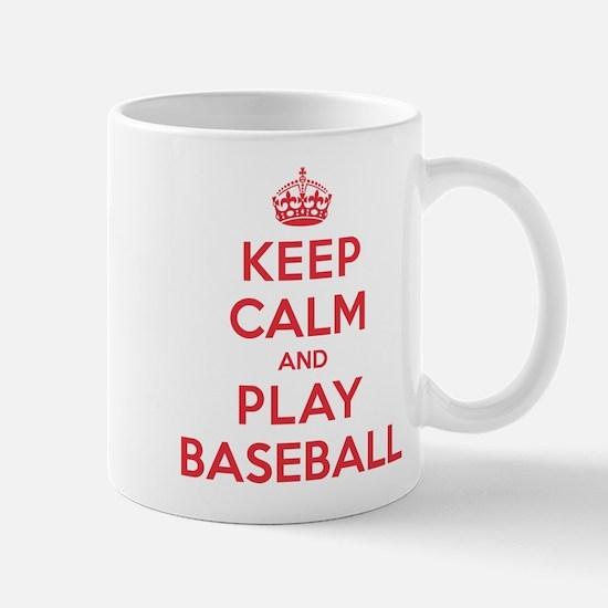 Keep Calm Play Baseball Mug