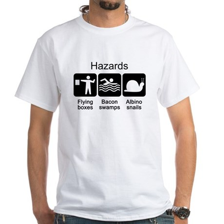 Geocaching Hazards White T-Shirt