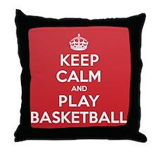 Keep Calm Play Basketball Throw Pillow