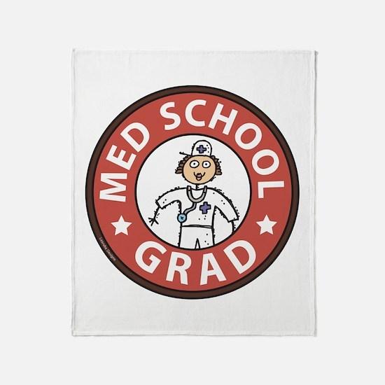 Med School Grad (Female) Throw Blanket