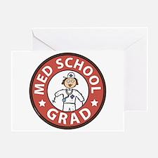 Med School Grad (Female) Greeting Card