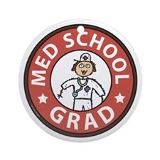 Med School Grad (Female) Ornament (Round)