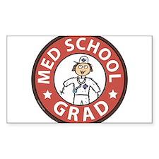 Med School Grad (Female) Decal