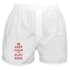 Keep Calm Play Bass Boxer Shorts
