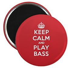 Keep Calm Play Bass Magnet