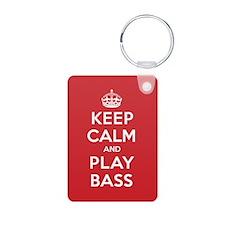 Keep Calm Play Bass Keychains
