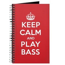 Keep Calm Play Bass Journal