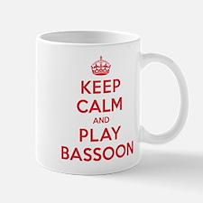 Keep Calm Play Bassoon Small Small Mug