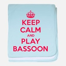 Keep Calm Play Bassoon baby blanket
