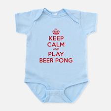 Keep Calm Play Beer Pong Infant Bodysuit