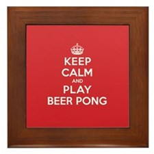 Keep Calm Play Beer Pong Framed Tile