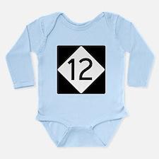 Route 12 Long Sleeve Infant Bodysuit