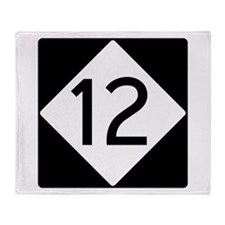 Route 12 Throw Blanket