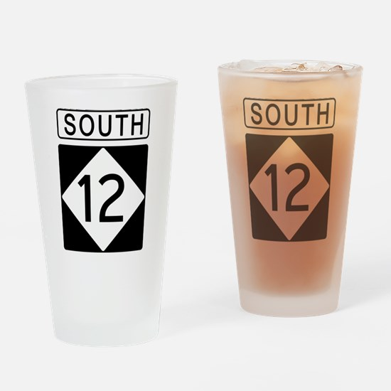Route 12 South Drinking Glass