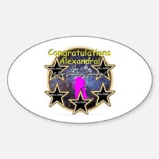 Grad Girls Alexandra: 0002 Sticker (Oval)