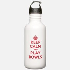 Keep Calm Play Bowls Water Bottle