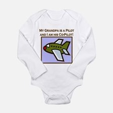 co-pilot grandpa plane Body Suit
