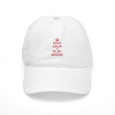 Keep Calm Play Bridge Baseball Cap