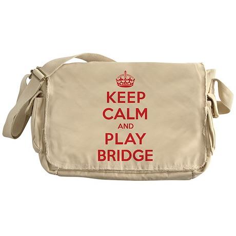Keep Calm Play Bridge Messenger Bag