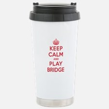 Keep Calm Play Bridge Travel Mug