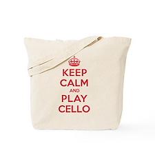 Keep Calm Play Cello Tote Bag