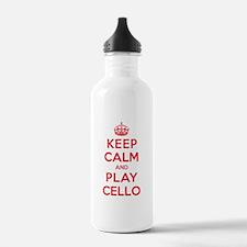 Keep Calm Play Cello Water Bottle