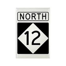 Route 12 North Rectangle Magnet