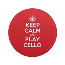 "Keep Calm Play Cello 3.5"" Button"