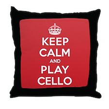 Keep Calm Play Cello Throw Pillow