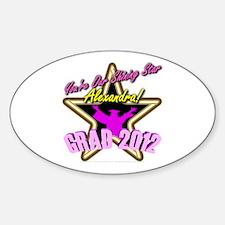 Grad Girls Alexandra: 0003 Sticker (Oval)