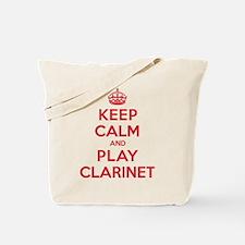Keep Calm Play Clarinet Tote Bag