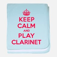 Keep Calm Play Clarinet baby blanket