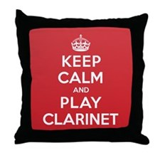 Keep Calm Play Clarinet Throw Pillow