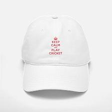 Keep Calm Play Cricket Baseball Baseball Cap