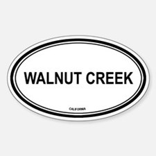 Walnut Creek (California) Oval Decal