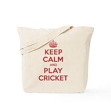 Keep Calm Play Cricket Tote Bag