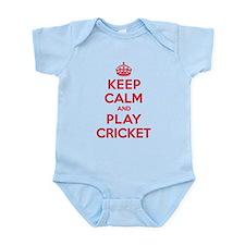 Keep Calm Play Cricket Infant Bodysuit