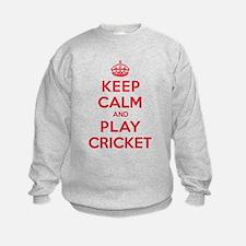 Keep Calm Play Cricket Sweatshirt