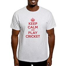Keep Calm Play Cricket T-Shirt