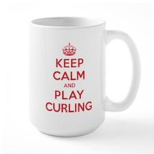Keep Calm Play Curling Mug