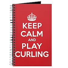 Keep Calm Play Curling Journal