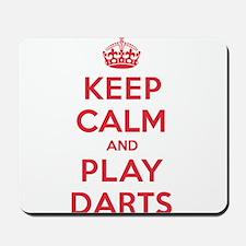 Keep Calm Play Darts Mousepad