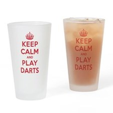 Keep Calm Play Darts Drinking Glass