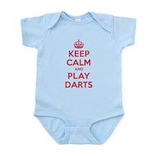 Keep Calm Play Darts Infant Bodysuit