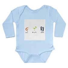 Eat. Drink. OBX. Long Sleeve Infant Bodysuit