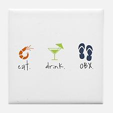 Eat. Drink. OBX. Tile Coaster
