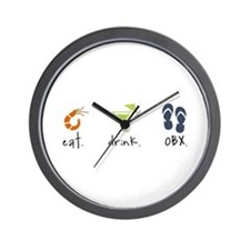 Eat. Drink. OBX. Wall Clock