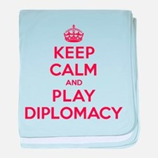Keep Calm Play Diplomacy baby blanket