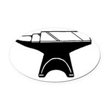 Anvil.jpg Oval Car Magnet